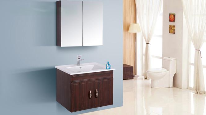 简约现代太空铝浴室柜组合吊柜铝合金卫浴柜镜柜侧柜洗脸盆柜AL8034 600mm