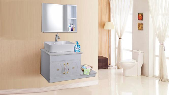 太空铝浴室柜迷你卫浴卫生间吊柜洗手洗脸盆柜组合卫浴柜洗漱台AL8033 900mm