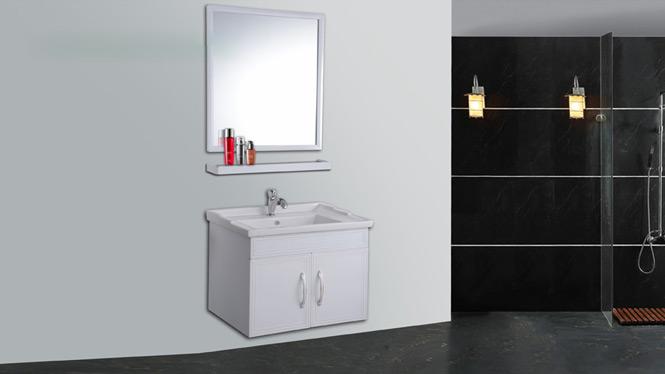 太空铝浴室柜吊柜洗手盆 卫生间洗脸盆组合卫浴柜梳洗台AL8025 600mm