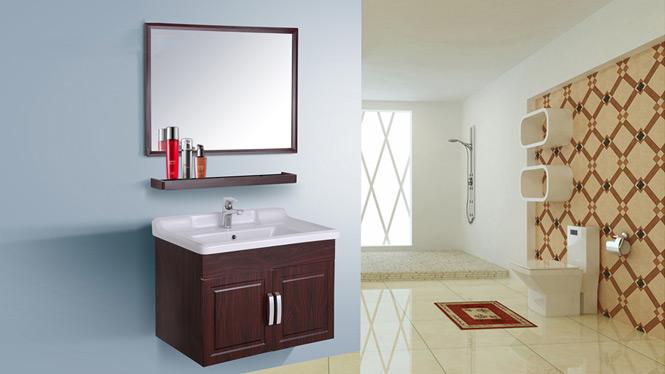 简约现代太空铝浴室柜组合卫生间洗脸洗手盆洗漱台卫浴吊柜AL8023 700mm