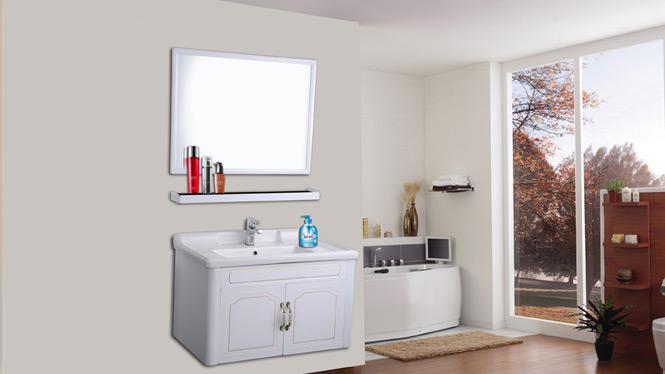 太空铝浴室柜组合 面盆卫浴柜洗脸盆柜组合 洗手盆吊柜包AL8022 800mm