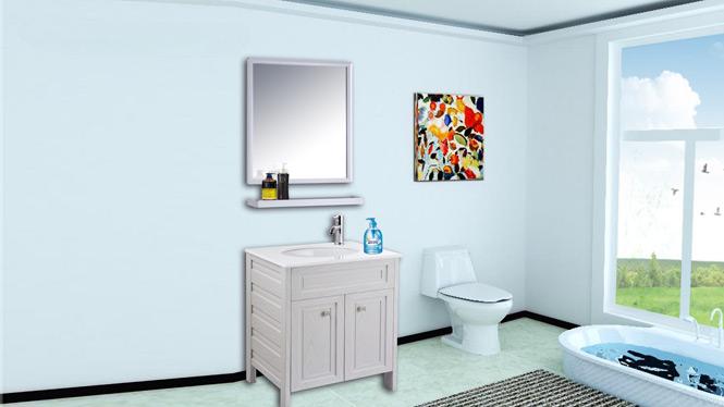太空铝浴室柜组合洗脸洗手盆面盆梳洗漱台盆池卫生间落地柜AL8012 650mm