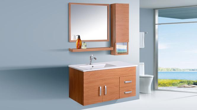 太空铝浴室柜组合卫生间洗脸洗手盆柜洗漱台盆陶瓷洁具卫浴柜吊柜AL8010 900mm