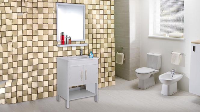 现代太空铝浴室柜组合洗手洗脸面盆落地柜卫生间洗漱台AL8006 650mm