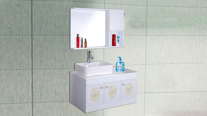 太空铝合金浴室柜吊柜洗手 盆卫生间洗脸盆组合卫浴柜梳洗台AL8003 900mm
