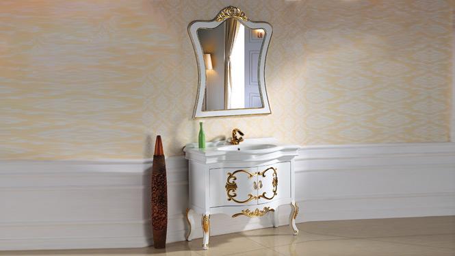欧式浴室柜落地实木仿古浴室柜橡木美式卫浴柜洗手盆柜组合洗漱台2960 1000mm800mm1200mm