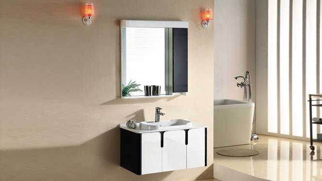 简约现代浴室柜 橡木卫浴柜 实木洗漱柜 洗脸洁具台盆柜组合吊柜2963 800mm1000mm