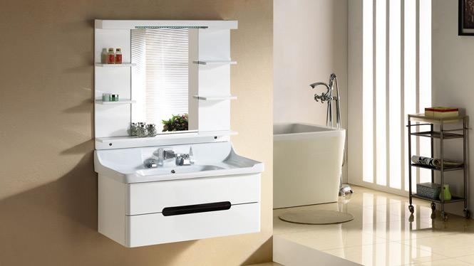 浴室柜实木台上洗脸盆柜 进口现代橡木洗漱台吊柜卫浴柜组合2988 1000mm800mm