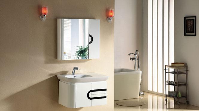 实木浴室柜吊柜挂墙式浴柜洗手盆柜组合洗漱台镜柜现代简约2972 765mm