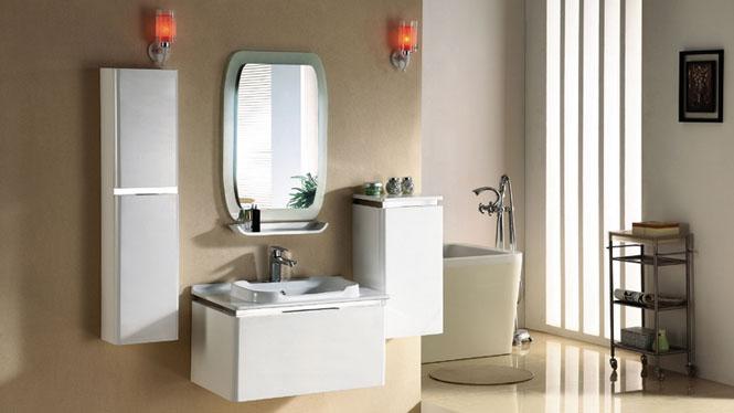 浴室柜组合简约现代挂墙式吊柜实木卫浴柜镜柜浴室柜2979 800mm