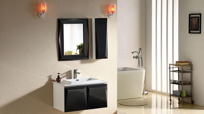浴室柜组合简约现代挂墙式吊柜实木卫浴柜镜柜浴室柜2965 800mm