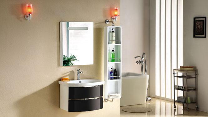 欧式橡木浴室柜洗手梳洗台台盆组合 浴室储物柜实木挂墙式卫浴柜2981 900mm600mm800mm