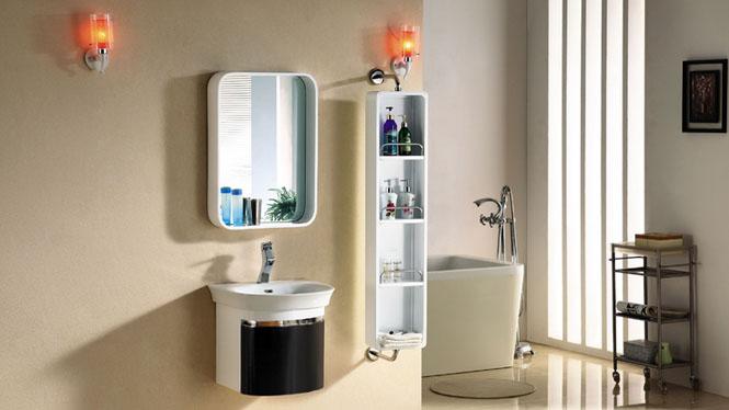 橡木浴室柜吊柜组合挂墙式镜柜实木洗脸盆浴柜现代简约2981 500mm
