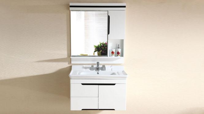 实木卫浴柜洗漱台卫生间洗手洗脸盆柜组合现代简约浴室柜吊柜2980 815mm