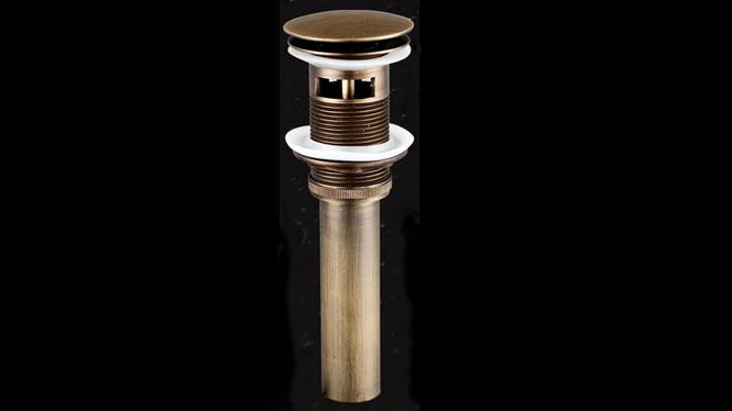 仿古全铜洗脸盆弹跳下水器面盆台盆复古弹跳洗手池排水管C24F