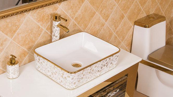 台上盆 洗脸盆 陶瓷洗面盆艺术洗手欧式台盆 金单盆PY2119