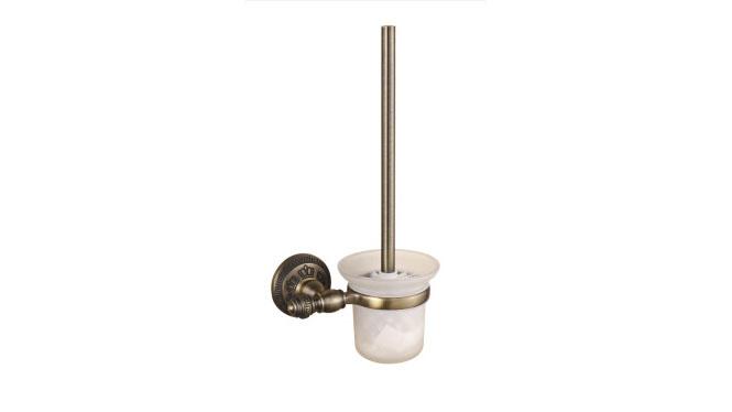 马桶刷杯架套装卫浴卫生间置物架田园复古座便器刷架马桶杯架浴室五金挂件26890