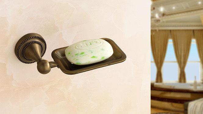 青古铜肥皂架 不锈钢欧式皂盒香皂盒皂篮仿古小皂网 美式田园肥皂碟72381