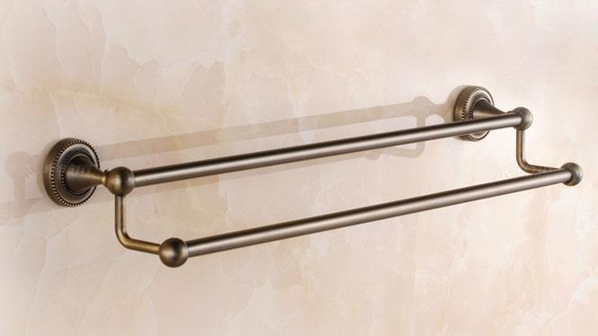 仿古浴巾架 欧式毛巾架 卫浴五金浴室挂件美式田园青古铜套装72348