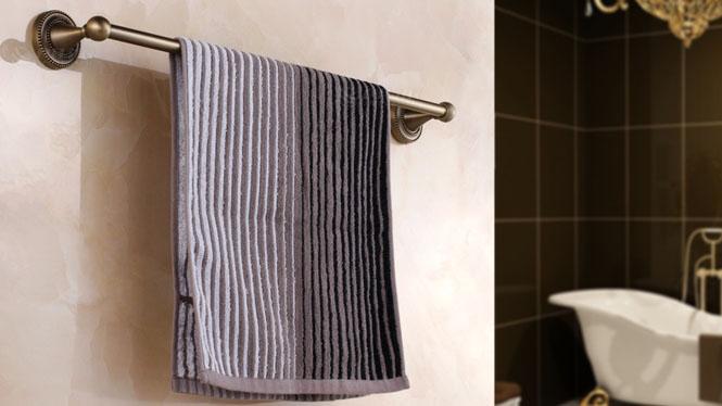 仿古浴巾架 欧式毛巾架 卫浴五金浴室挂件美式田园青古铜72324