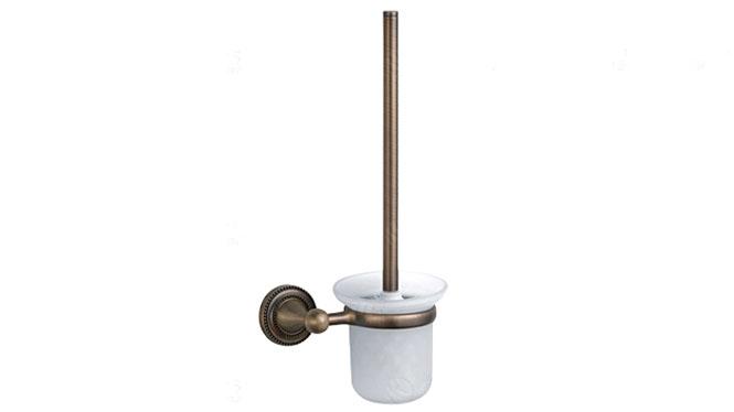 马桶刷杯架 卫浴卫生间置物架 美式 复古座便器刷架 马桶杯架72390