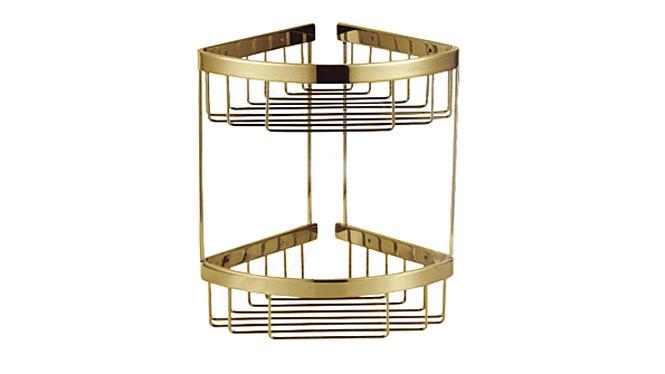 三角篮网篮 金色浴室置物架 浴室挂件 卫生间三角蓝金色 青古铜 玫瑰金632