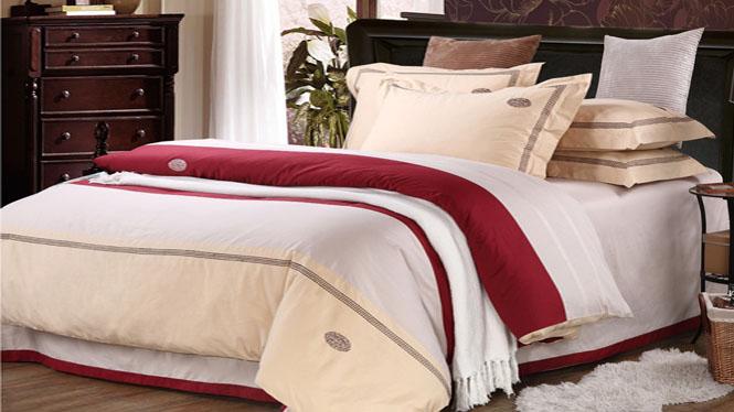 床上用品 美式全棉床笠床单四件套 60支高密精梳棉 新品春季时尚