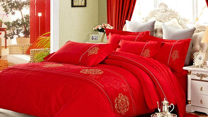 精梳棉家纺韩版四件套 全棉床上用品4件套 纯棉床单被套美人吟