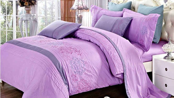 纯棉四件套精梳全棉床上用品被套品牌四4件套特价柔情似水