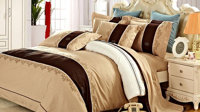 精梳喷气纯棉四件套 床上用品床品四件套全棉床单被套时尚情调