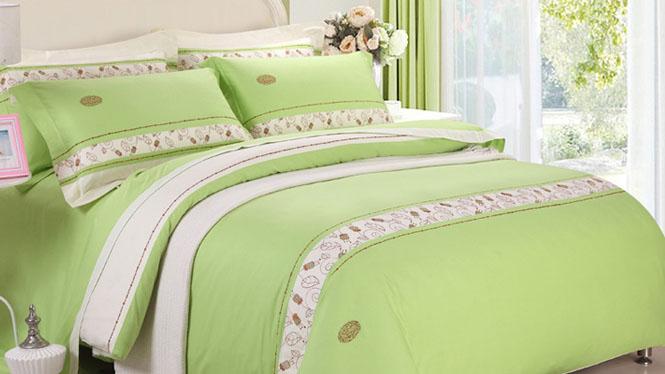 精梳棉四件套品牌家纺床品全棉床上用品高档纯棉四件套床套件小时代