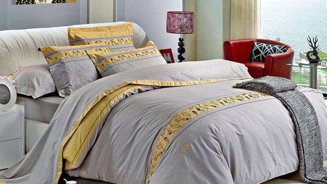 新品精梳纯棉四件套 全棉4件套床上用品床单被套四件套光辉岁月