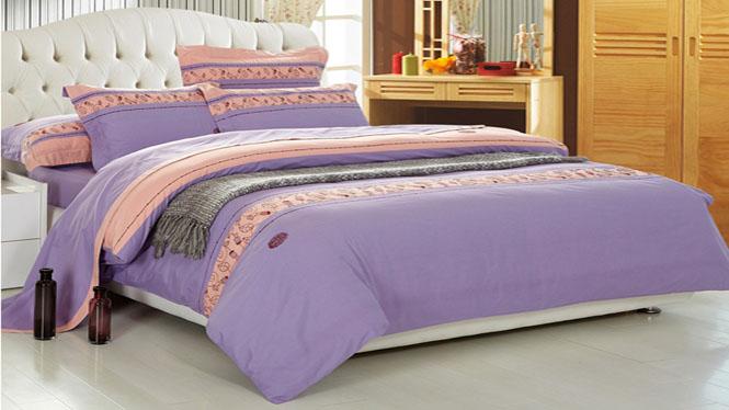纯棉四件套全棉高支高密高档精梳棉不起球不褪色床上套最浪漫的事