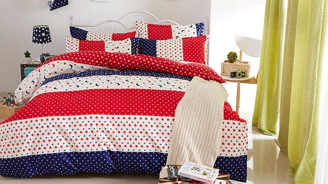棉床上四件套 特价全棉长绒棉床单被套床品纯棉四件套亲亲宝贝