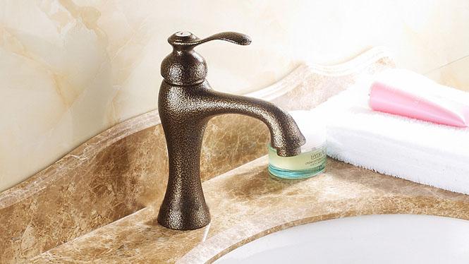洗脸盆龙头台盆面盆单孔冷热水龙头 全铜冷暖洗手盆台下盆水龙头FES-9887G