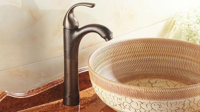 面盆单冷水龙头 陶瓷盆 洗手盆水龙头 全铜阀芯 洗脸盆龙头FES-9870G