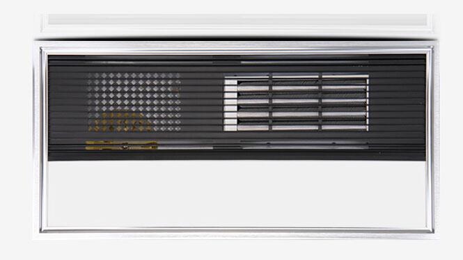 浴霸集成吊顶 超导PTC空调型LED照明浴霸 白橡超导LED四合一D-39