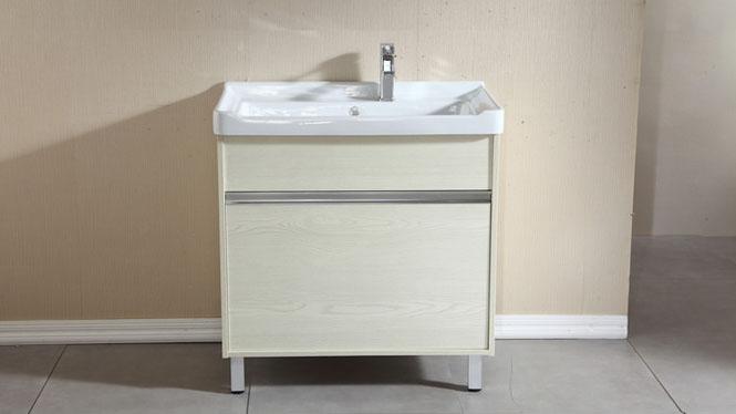 实木洗衣柜组合阳台浴室柜组合带搓板滚筒洗衣机柜超深洗衣池800mm600mm700mm HLN-001
