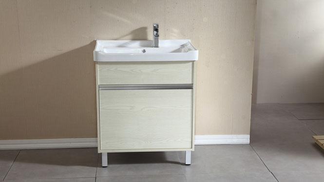 实木洗衣柜组合阳台浴室柜组合带搓板滚筒洗衣机柜超深洗衣池700mm600mm800mm HLN-001