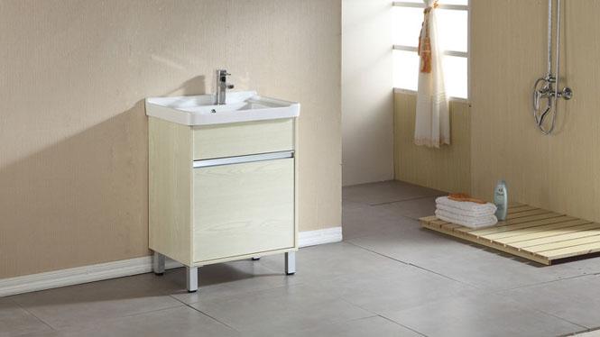 实木洗衣柜组合阳台浴室柜组合带搓板滚筒洗衣机柜超深洗衣池600mm700mm800mm HLN-001