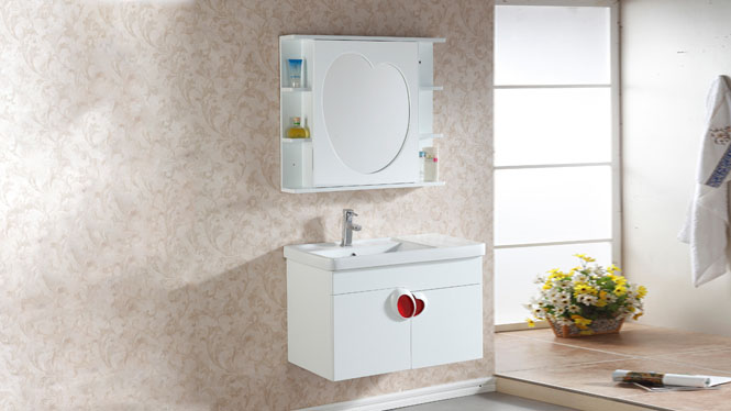 简约浴室柜组合洗脸洗手盆池洗漱台盆实木卫生间吊柜800mm600mm900mmm 1033