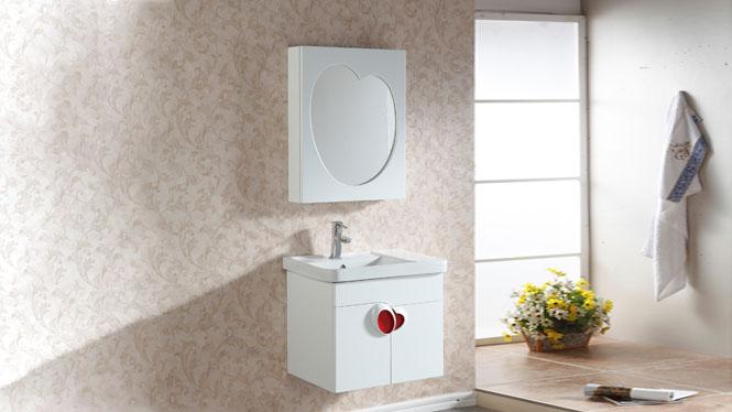 简约浴室柜组合洗脸洗手盆池洗漱台盆实木卫生间吊柜600mm800mm900mmm 1033