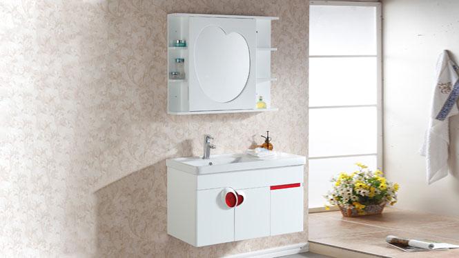 简约浴室柜组合洗脸洗手盆池洗漱台盆实木卫生间吊柜900mm600mm800mmm 1033