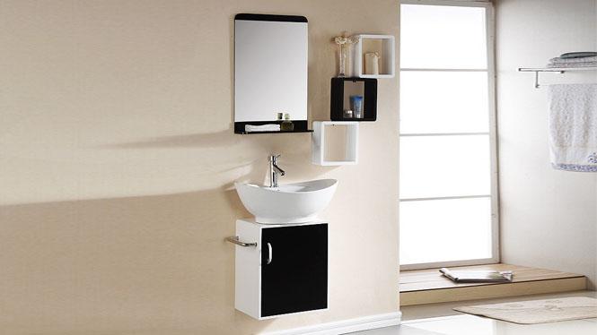 PVC浴室柜组合小洗漱台洗脸盆洗手盆洗面盆池吊柜卫生间600mm 1048