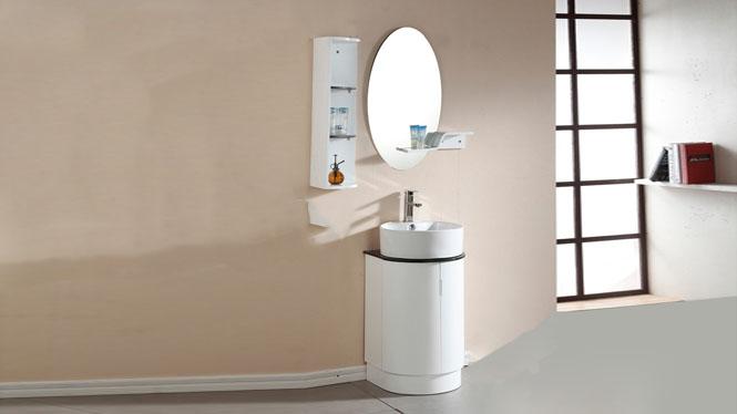 防水PVC台上盆整体小户型浴室柜卫生间洗脸洗手盆组合落地480mm 1047