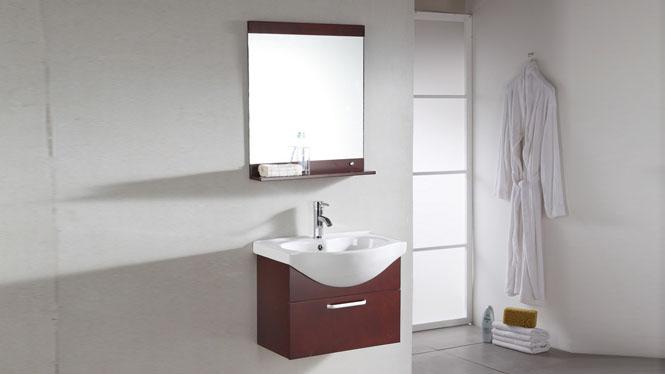 现代pvc小浴室柜组合卫生间洗手盆池洗脸盆柜洗漱台盆卫浴柜吊柜610mm 1028