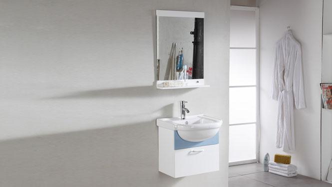 PVC浴室柜组合洗手洗脸盆柜洗漱台现代简约卫浴柜吊柜500mm 1027