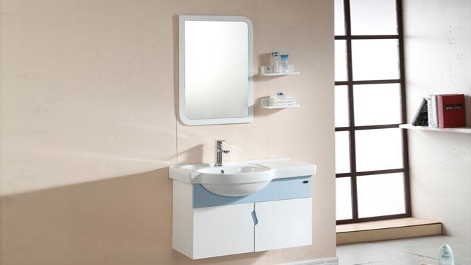 实木浴室柜组合现代简约洗脸台上盆挂墙式卫浴镜柜940mm 1002