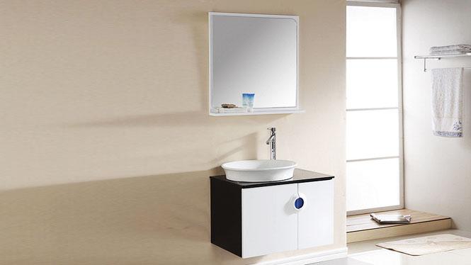 简约浴室柜实木卫浴柜吊柜卫生间洗脸洗手盆柜洗漱台组合700mm 1029