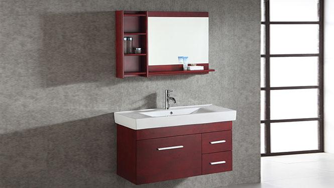 浴室柜组合现代简约挂墙式吊柜实木卫浴柜洗漱台洗脸盆柜960mm 1064